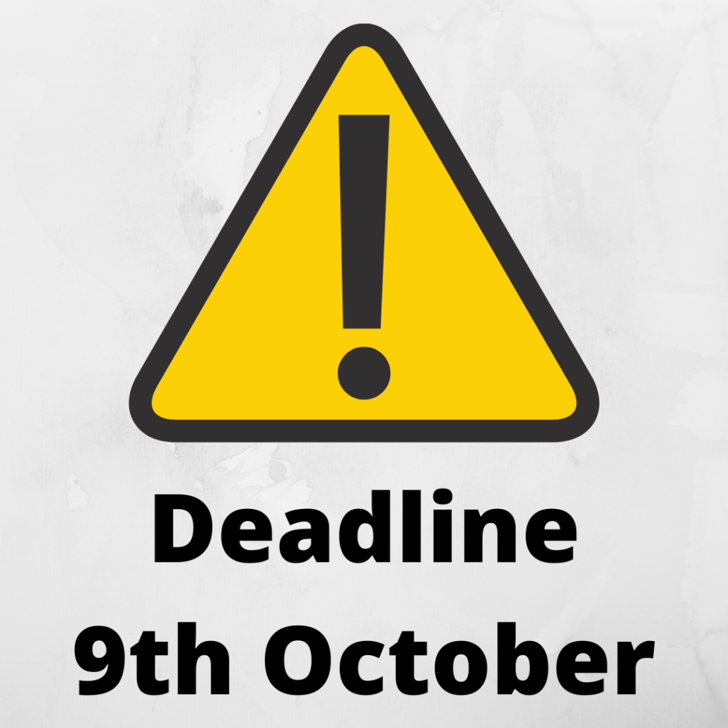 cfas deadline 9th october