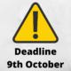 cfas deadline 9th october
