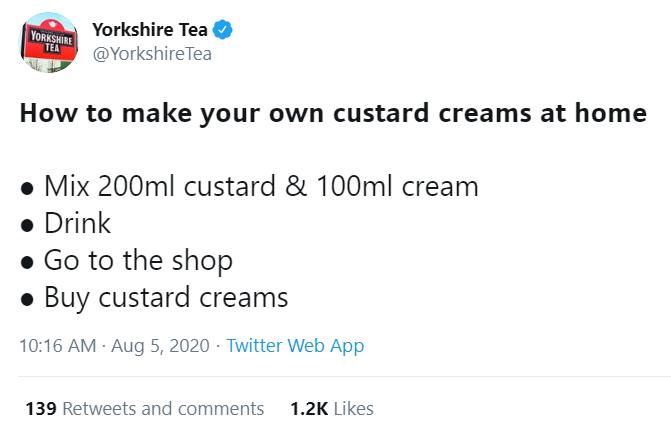 yorkshire tea tweet