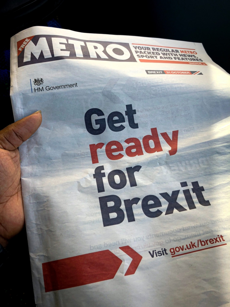 metro newspaper brexit headline