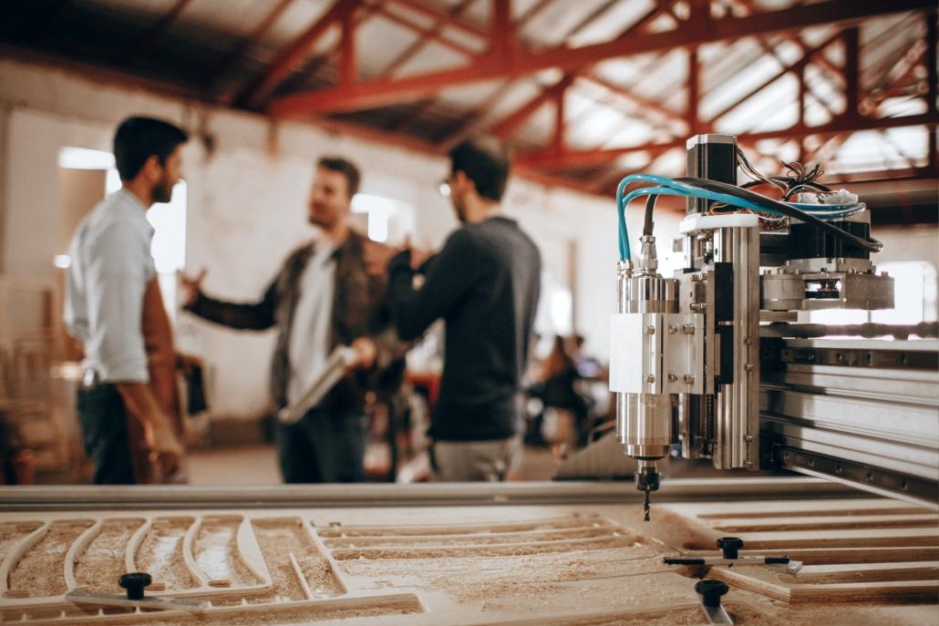 men chatting in workshop cfas